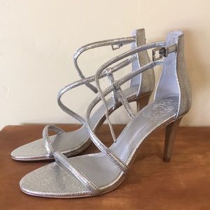 Vince Camuto silver heeled sandals. 9.5. NWT